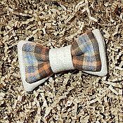 Галстуки ручной работы. Ярмарка Мастеров - ручная работа Клетчатый галстук-бабочка из шерсти. Handmade.