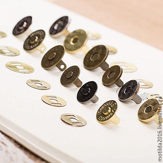 Другие виды рукоделия ручной работы. Ярмарка Мастеров - ручная работа. Купить Кнопка магнитная. Handmade. Комбинированный, металлическая фурнитура