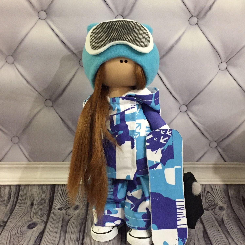 Сноубордистка кукла ручной работы, Тыквоголовка, Вельск,  Фото №1