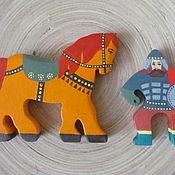 Куклы и игрушки ручной работы. Ярмарка Мастеров - ручная работа Богатырь на коне.. Handmade.