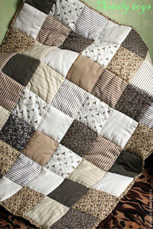 Текстиль, ковры ручной работы. Ярмарка Мастеров - ручная работа. Купить Одеяло-покрывало в стиле пэчворк. Handmade. Разноцветный