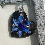 Винтаж handmade. Livemaster - original item Pendant, flower heart pendant, Murano, Italy. Handmade.