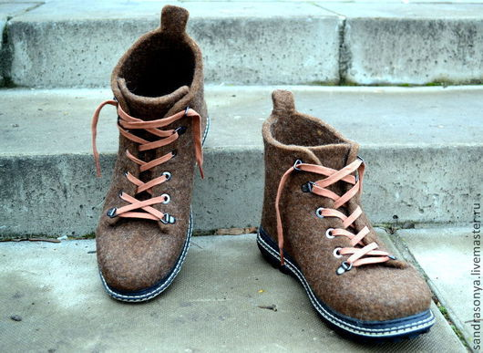 """Обувь ручной работы. Ярмарка Мастеров - ручная работа. Купить Ботинки валяные мужские """"Mr. Brown"""". Handmade. Ботинки валяные"""