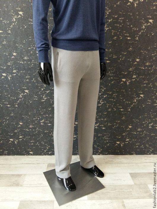 """Брюки, шорты ручной работы. Ярмарка Мастеров - ручная работа. Купить Мужские вязаные брюки на завязках """"Mega"""". Handmade. Серый"""