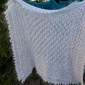 handmade. Livemaster - original item Shawl down white shawl openwork goat down personal gift. Handmade.