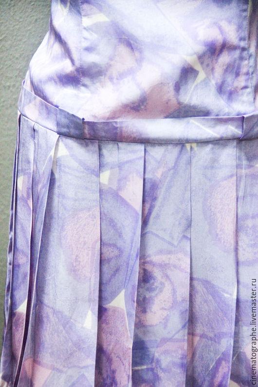 Одежда. Ярмарка Мастеров - ручная работа. Купить Платье 60-е годы винтаж ссср. Handmade. Бледно-сиреневый, винтаж