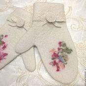 Аксессуары handmade. Livemaster - original item Felted mittens. Woolen mittens.. Handmade.