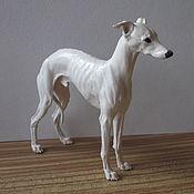 """Для дома и интерьера ручной работы. Ярмарка Мастеров - ручная работа Статуэтка собаки"""" Левретка"""". Handmade."""