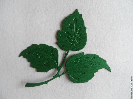 Открытки и скрапбукинг ручной работы. Ярмарка Мастеров - ручная работа. Купить Вырубка Листья розы. Handmade. Листья, листья розы