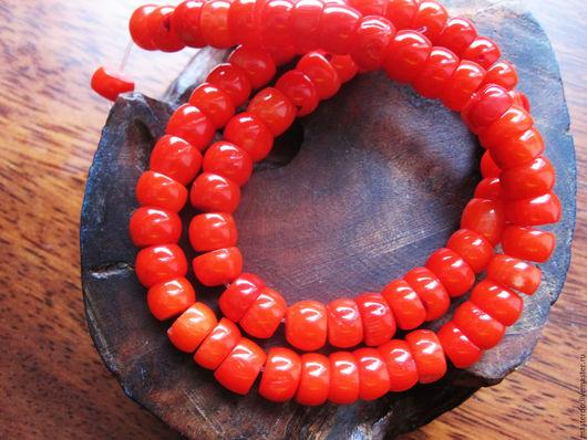 Для украшений ручной работы. Ярмарка Мастеров - ручная работа. Купить КОРАЛЛ Облепиха формы кукуруза нить. Handmade. Рыжий