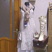 Одежда ручной работы. Ярмарка Мастеров - ручная работа Сарафан Монвизо, 100% лен. Handmade.