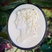 Винтаж handmade. Livemaster - original item Medusa Gorgon Antique Cameo-Lava Brooch. Handmade.