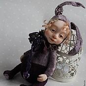 Куклы и игрушки ручной работы. Ярмарка Мастеров - ручная работа Тедди-долл Виола (фиалка). Handmade.