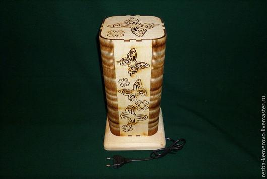 Освещение ручной работы. Ярмарка Мастеров - ручная работа. Купить Светильник из дерева. Handmade. Ночник, свет