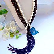 Украшения handmade. Livemaster - original item With pendant of garnet and pearls. Handmade.