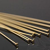 Материалы для творчества handmade. Livemaster - original item 10 PCs. The stud pins 50 mm gold plated Korea (2090). Handmade.