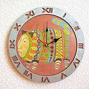 Для дома и интерьера handmade. Livemaster - original item Wall clock cat Storyteller, handmade watches. Handmade.