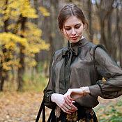 Одежда ручной работы. Ярмарка Мастеров - ручная работа Блузка из натурального шёлка Оливия. Handmade.