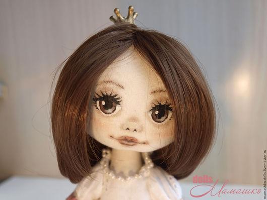 Коллекционные куклы ручной работы. Ярмарка Мастеров - ручная работа. Купить Текстильная кукла из бязи с рисованным лицом Принцесса Анютка. Handmade.