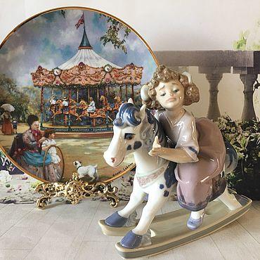 Винтаж ручной работы. Ярмарка Мастеров - ручная работа Винтаж: Девочка на лошадке Льядро LLadro. Handmade.