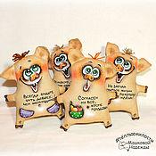 Куклы и игрушки handmade. Livemaster - original item Pigs coffee toys handmade Christmas gift Year of the pig. Handmade.