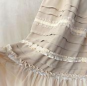 Одежда handmade. Livemaster - original item Beige skirt,a long boho sun. The lower skirt. Handmade.
