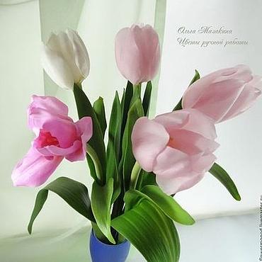 Цветы и флористика ручной работы. Ярмарка Мастеров - ручная работа Тюльпаны из полимерной глины. Handmade.