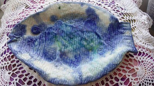 """Винтажная посуда. Ярмарка Мастеров - ручная работа. Купить Фарфоровые тарелки """" Ловись, рыбка"""". Handmade. Фарфор"""