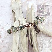 Украшения handmade. Livemaster - original item Bracelet of rhyolite Shambala with a turtle. Handmade.