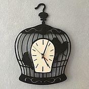 Для дома и интерьера ручной работы. Ярмарка Мастеров - ручная работа Часы Птички в клетке. Handmade.