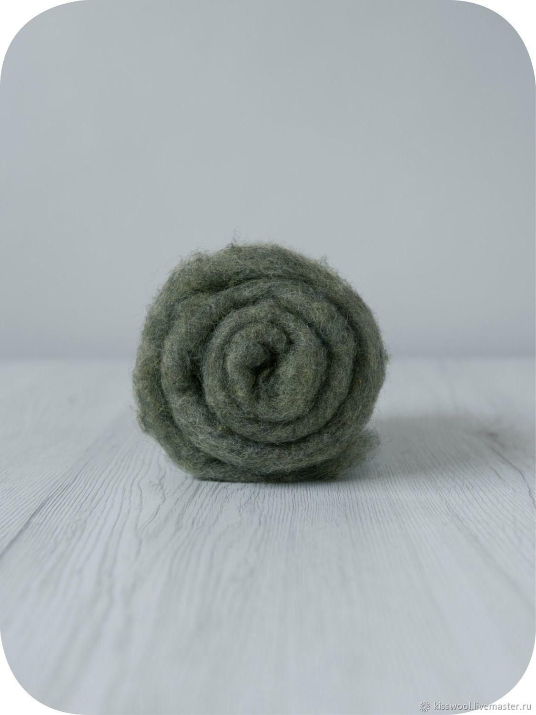 Cardoons Maori70% Bergshaf30% Undergrowth. Italian factory DHG, Carded Wool, Berdsk,  Фото №1