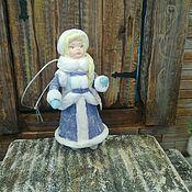 Куклы и пупсы ручной работы. Ярмарка Мастеров - ручная работа Снегурочка-4 ватная ёлочная игрушка. Handmade.
