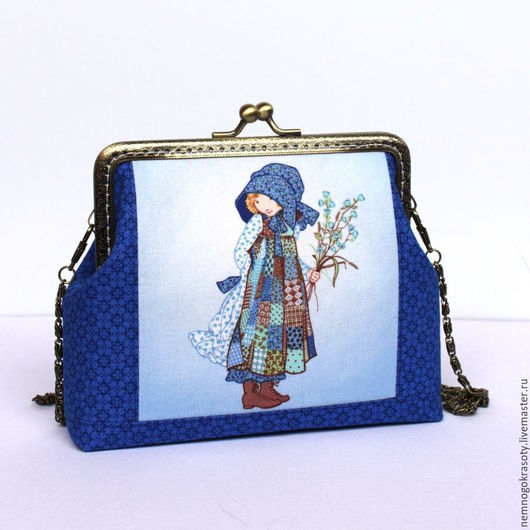 Сумочка для девочки Холли Хобби - сумочка с фермуаром, подарок девочке. Очаровательная сумочка с фермуаром для маленькой леди! На сумочке изображена милая девчушка Холли Хобби.