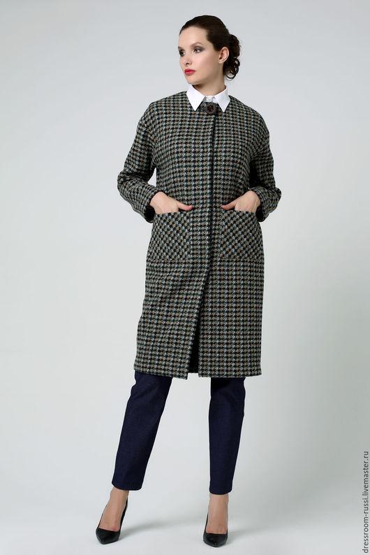 Верхняя одежда ручной работы. Ярмарка Мастеров - ручная работа. Купить Пальто на осень.. Handmade. Комбинированный, пальто на подкладе