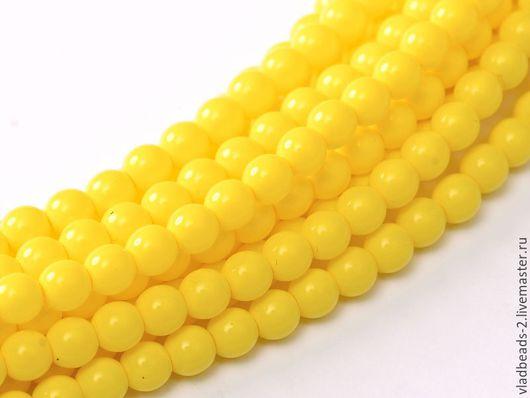 Для украшений ручной работы. Ярмарка Мастеров - ручная работа. Купить Бусины 2мм чешские стеклянные Yellow Squash. Handmade.