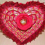 """Съедобные букеты ручной работы. Ярмарка Мастеров - ручная работа Букет из жвачки """"Love is..."""" Валентинка. Handmade."""