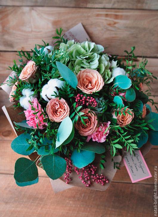 Букет из цветов живых Изысканный