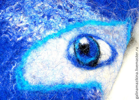 Варежки, митенки, перчатки ручной работы. Ярмарка Мастеров - ручная работа. Купить Варежки цвета лошадиного индиго, синий, космос, глаза, око, взгляд. Handmade.