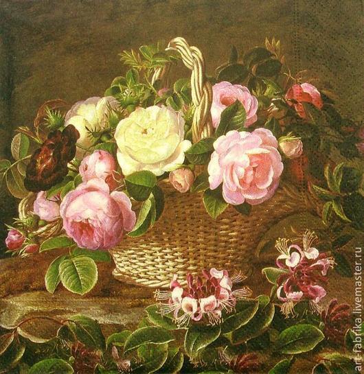 Декупаж и роспись ручной работы. Ярмарка Мастеров - ручная работа. Купить Английские розы. Handmade. Разноцветный, английская роза, розы