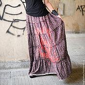 Одежда ручной работы. Ярмарка Мастеров - ручная работа Коричневая юбка в горошек. Handmade.