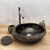 Изделия ручной работы. Ярмарка Мастеров - ручная работа Раковина из речного камня. Handmade.
