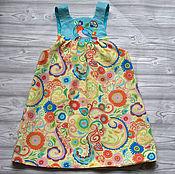 Работы для детей, ручной работы. Ярмарка Мастеров - ручная работа Сарафан с вышивкой Тари. Handmade.