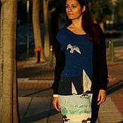 """Одежда ручной работы. Ярмарка Мастеров - ручная работа Платье-свитер """"Синее море"""". Handmade."""