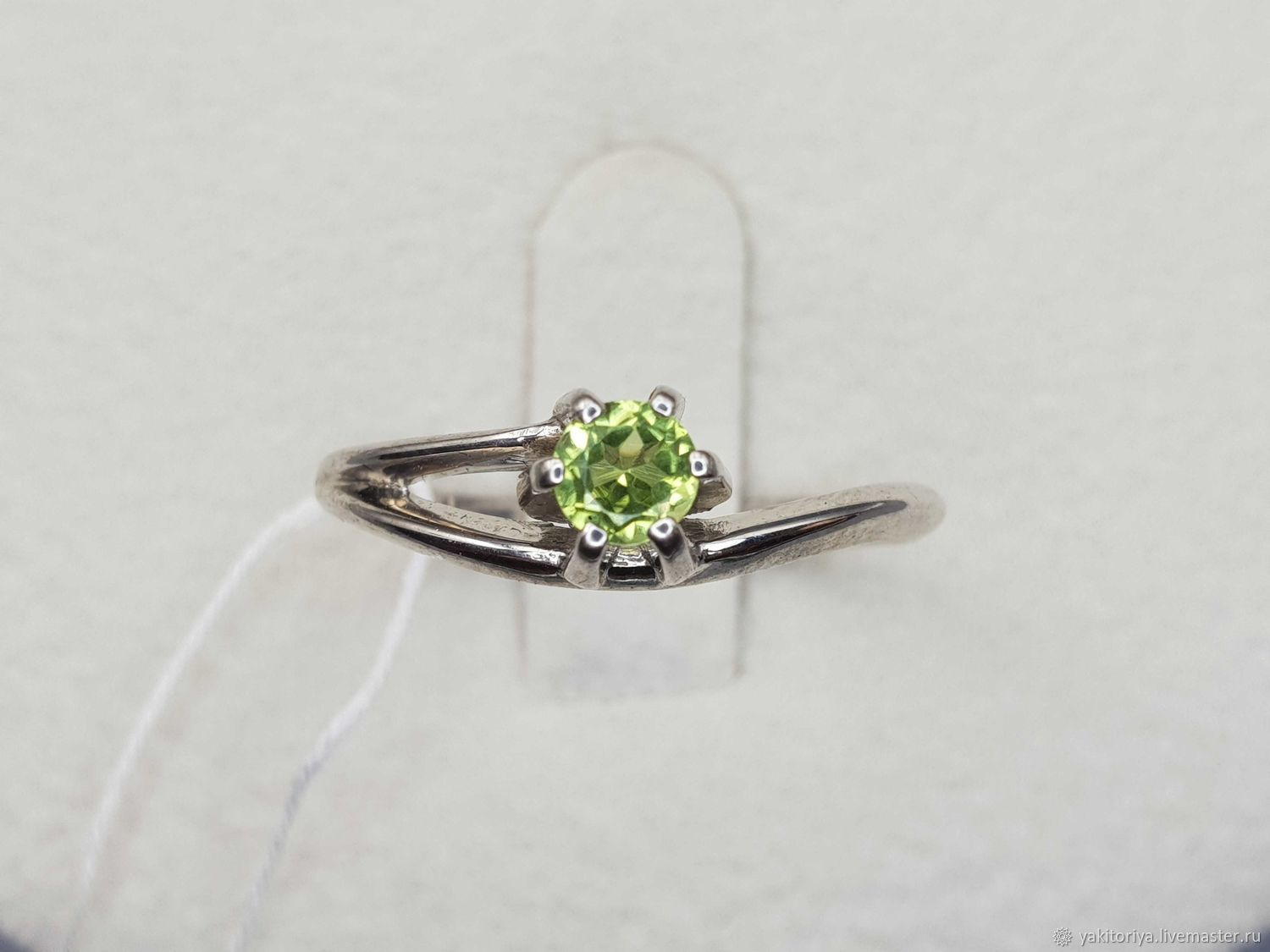 Silver ring with chrysolite 4 mm, Rings, Moscow,  Фото №1