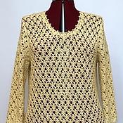 Одежда handmade. Livemaster - original item Cashmere Silk Linen Cardigan ladies knitted crochet champagne. Handmade.