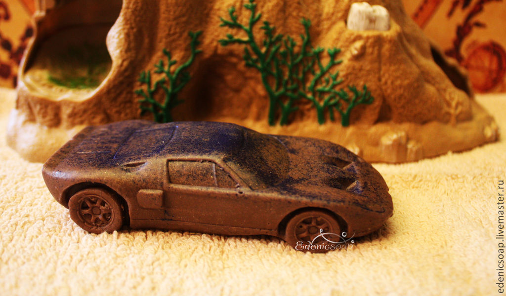 Author's soap. Handmade soap.The Vehicle ' Ford`. Soap 3D