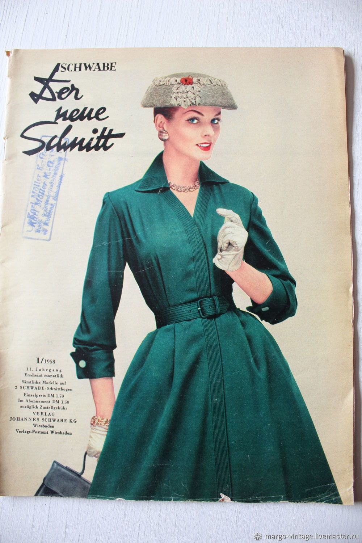Винтаж: Schwabe der neue Schnitt - журнал мод 1/1958, Книги винтажные, Бонн,  Фото №1