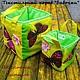 Пошиты из натурального хлопка.   Вручную простеганные с синтепоном, нитками мулине. Декорированы цветами (германский хлопок, пуговицы). Хорошо держат форму.