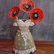 Для дома и интерьера handmade. Livemaster - original item Vase porcelain