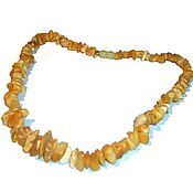 Работы для детей, handmade. Livemaster - original item Amber beads healing Light yellow natural untreated stone. Handmade.